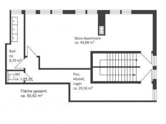 Wohnen und Arbeiten unter einem Dach! Helles und geräumiges Büro-Apartment