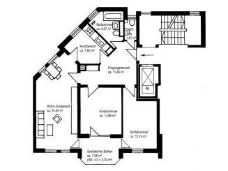 Gut geschnittene 3-Zimmer-Wohnung in 82024 Alttaufkirchen