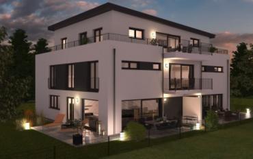 Neubau! 3-Zimmer-Dachgeschosswohnung mit umlaufender Dachterrasse in 81739 München-Waldperlach