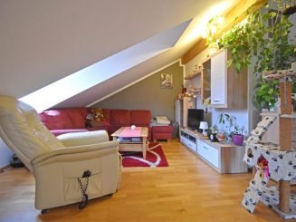Helle und geräumige 3-Zimmer-Dachgeschosswohnung mit schönem Ost-Balkon in Moosach bei Grafing