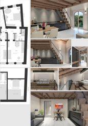 Wohngebäude mit 5 Wohnungen und Blick über Langhe in Monforte d'Alba / Piemont / Italien