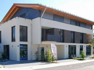 Neubau von offen gestalteten 2-4-Zimmer-Wohnungen und einer modernen Gewerbeeinheit im Zentrum von Deisenhofen